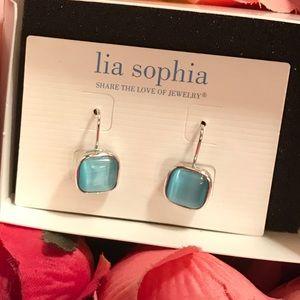 Jewelry - Lia Sophia blue stones earrings